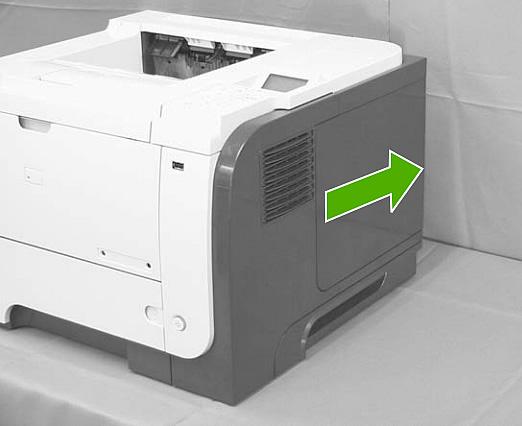 replacing the laser scanner assembly hp laserjet p3015 p3015n p3015dn p3015x. Black Bedroom Furniture Sets. Home Design Ideas