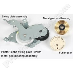 Full Swing Plate Assembly Kit with metal gear,  swing plate assembly, and fuser gear RM1-0043