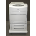 Fully configured HP Color LaserJet 5500dn with 3 paper trays and rolling base. Call for pricing on the 2 extra trays and rolling base.