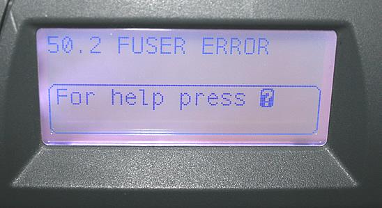 50 2 fuser error HP LaserJet 4000 4050 4100 4200 4300