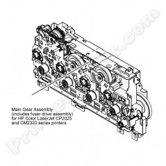 Main drive assembly w. fuser drive assembly HP Color LaserJet CP2025 CM2320 series