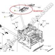 P3015 M521 M525 scanner RM1-6322-000CN